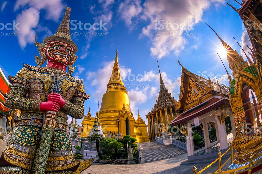 Wat Phra Kaew, Bangkok, Thailand stock photo