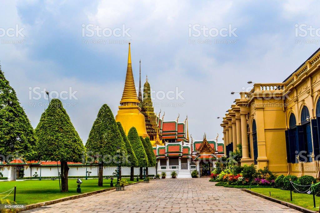 Wat Phra Kaew Complex in Bangkok Thailand stock photo