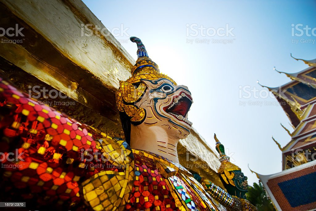 Wat Phra Kaew Demon royalty-free stock photo