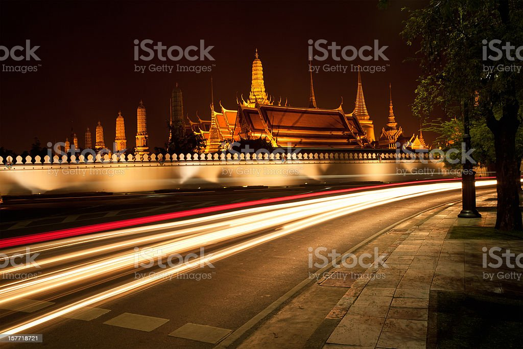 Wat Phra Kaew Grand Palace, Bangkok, Thailand royalty-free stock photo