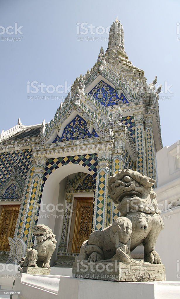 Wat Phra Kaew in Bangkok stock photo