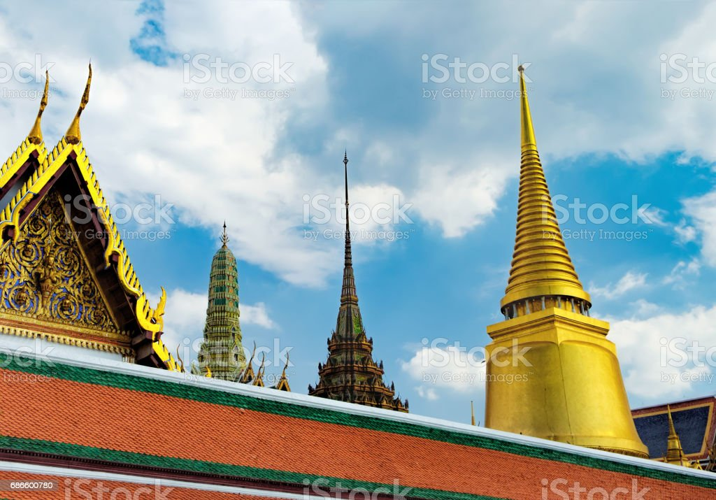 Wat Phra Kaew in Bangkok, Thailand royalty-free stock photo
