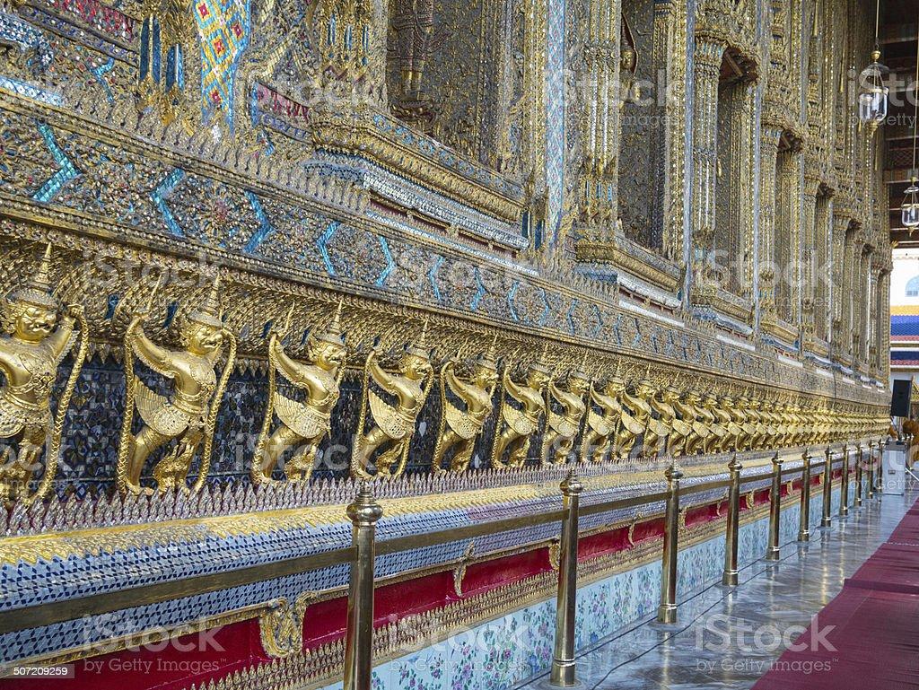 Wat Phra Kaew (the Grand Palace) of Thailand. royalty-free stock photo