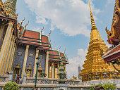 Wat phra kaew temple at bangkok city Thailand.Wat Phrakeaw Temple is the main Temple of bangkok Capital of Thailand