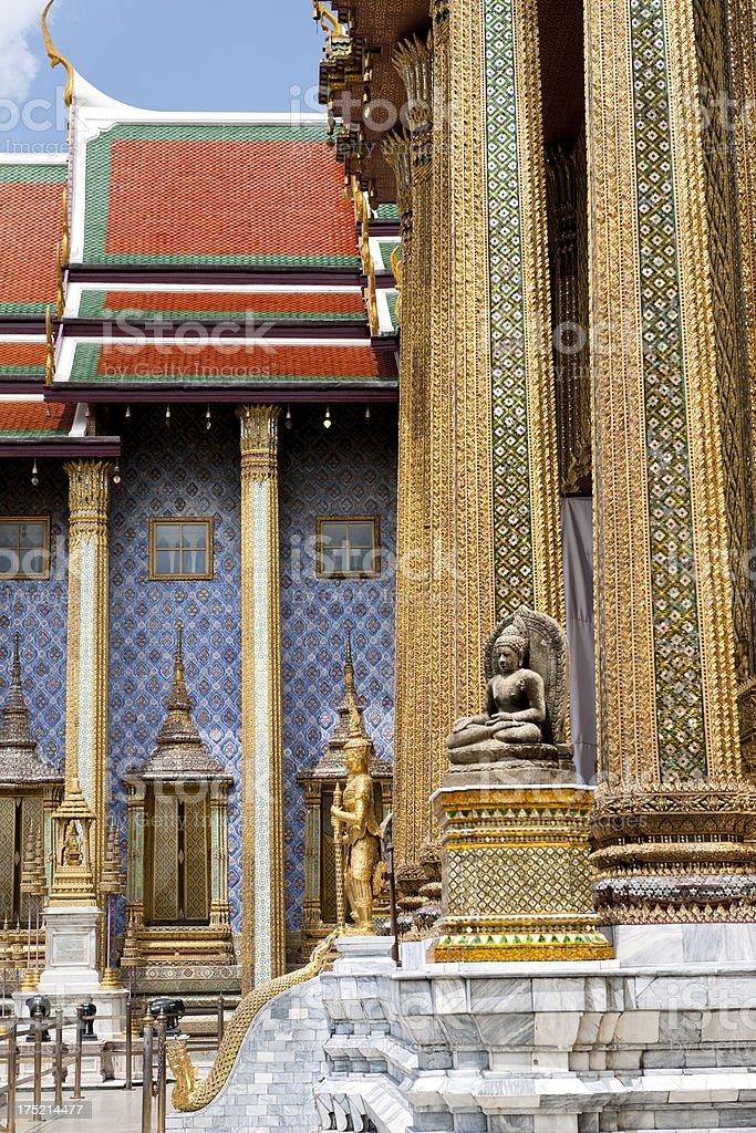 Wat Phra Kaew temple, Bangkok Thailand royalty-free stock photo