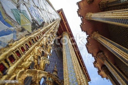 Image of Grand Palace in Bangkok and Wat Phra Kaew Temple.