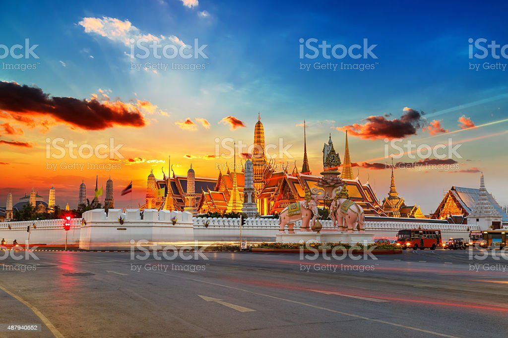 Wat Phra Kaew, Temple of Emerald Buddha stock photo