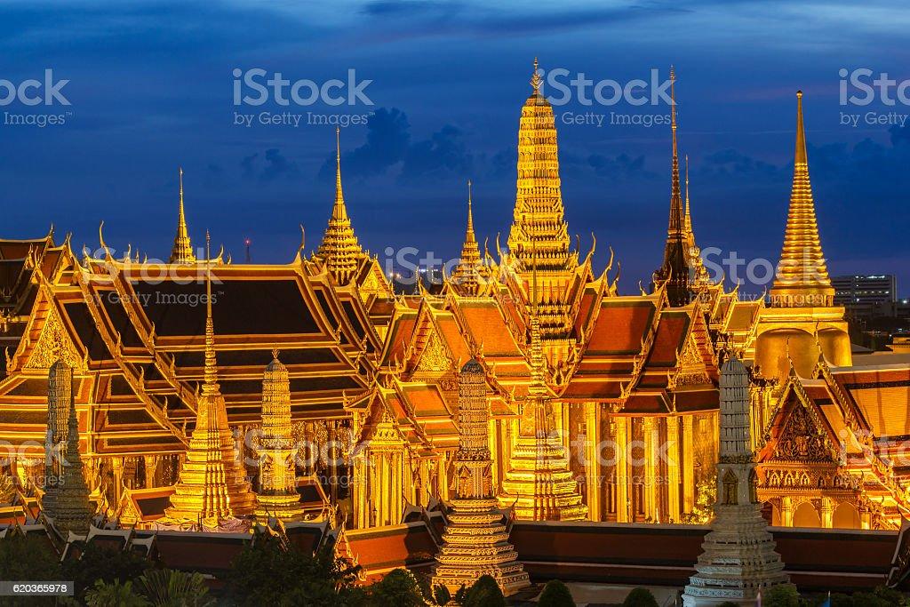 Wat Phra Kaew, Temple of the Emerald Buddha, Bangkok foto de stock royalty-free