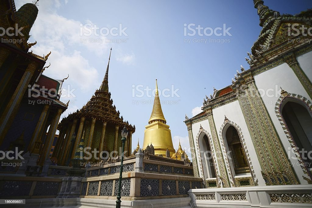 Wat Phra Kaew, Temple of the Emerald Buddha, Bangkok, Thailand. royalty-free stock photo