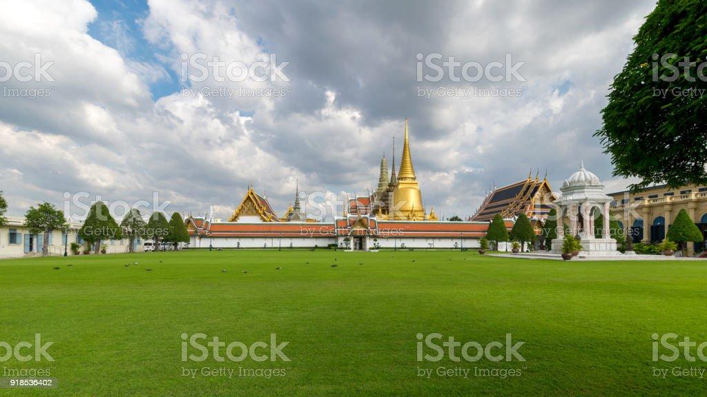 Wat Phra Kaew, Temple of the Emerald Buddha, Bangkok, Thailand stock photo