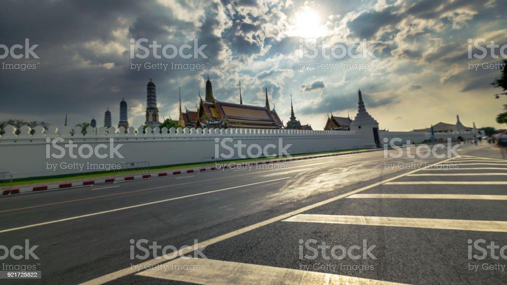 Wat Phra Kaew, Temple of the Emerald Buddha, Bangkok, Thailand (Long Exposure) stock photo