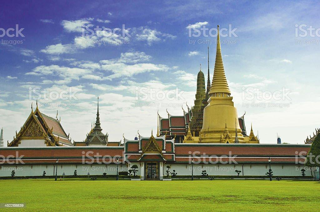 Wat Phra Kaew, Temple of the Emerald Buddha royalty-free stock photo