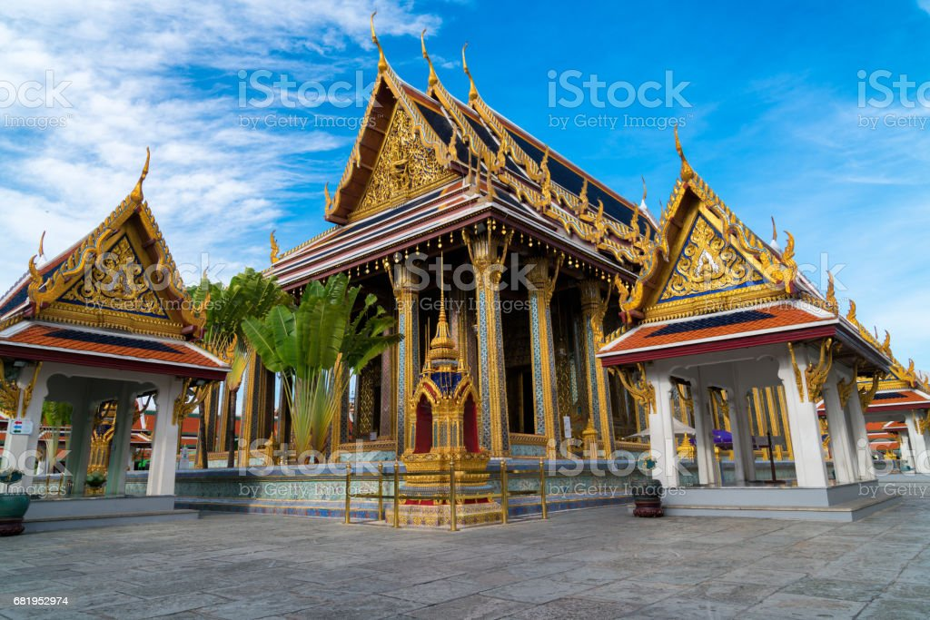 Wat Phra Kaew, Temple of the Emerald Buddha stock photo