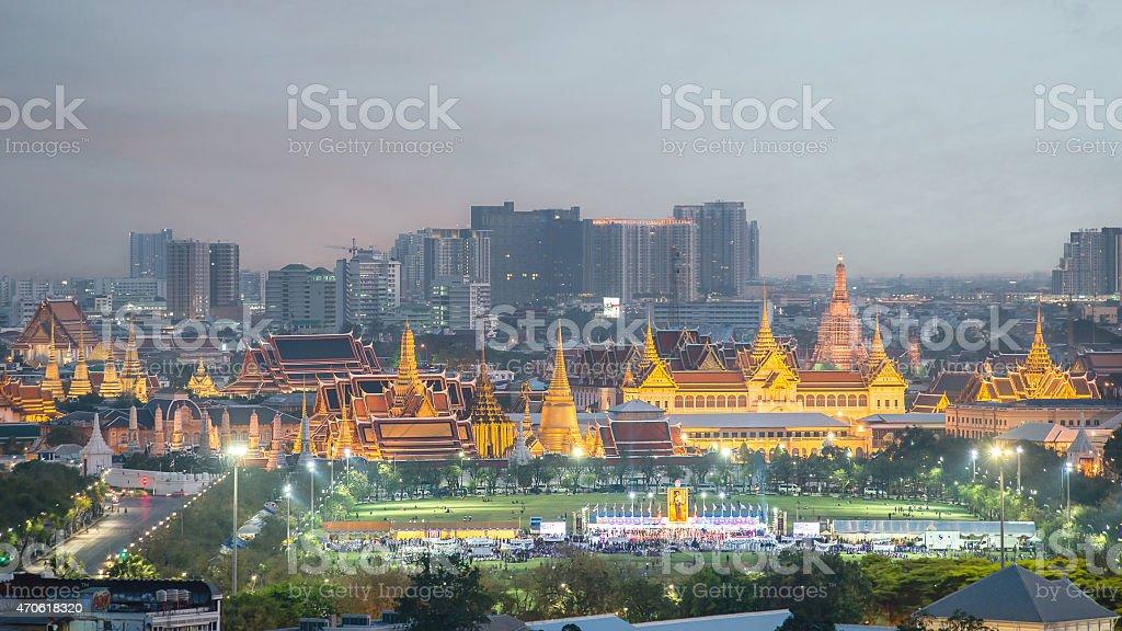 Wat Phra Kaew, Temple of the Emerald Buddha,Grand palace stock photo