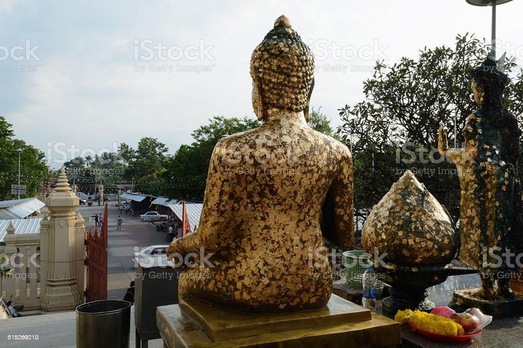 wat phra pathom chedi daytime stock photo