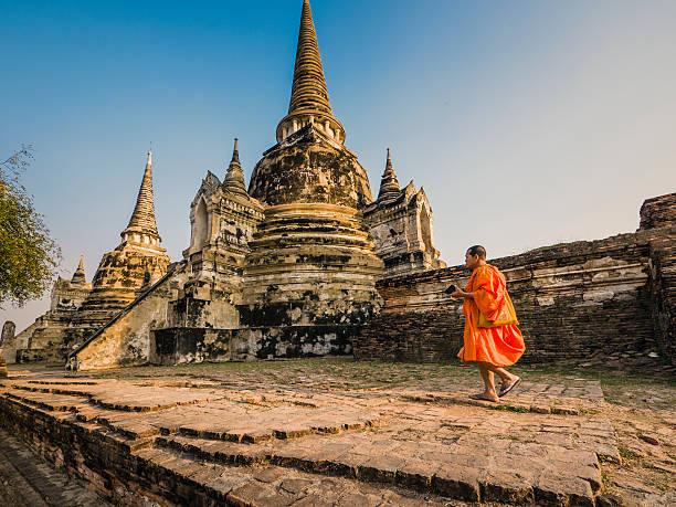 Wat Phra Si Sanphet Ayutthaya Thailand stock photo