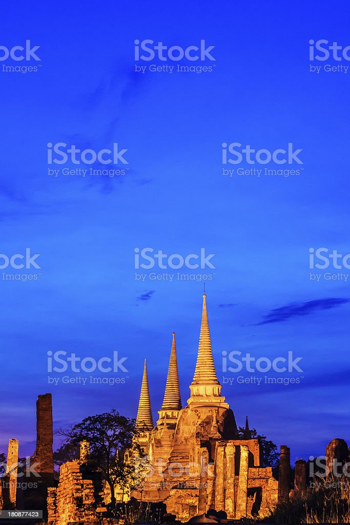Wat Phra Si Sanphet royalty-free stock photo