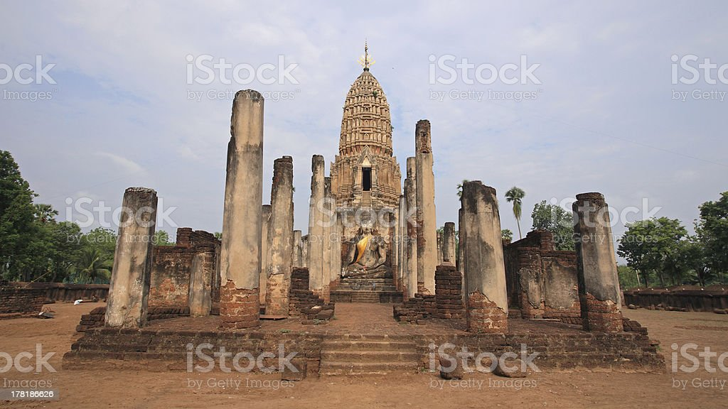 Wat Phra Sri Rattana Mahathat at Sukhothai royalty-free stock photo