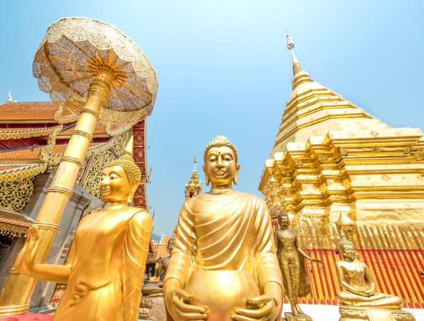 Wat Phra That Doi Suthep, ein buddhistischer Tempel in Chiang Mai, Thailand. – Foto