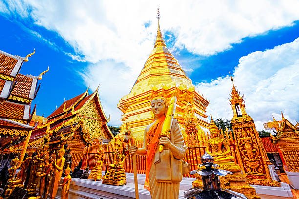 Wat Phra That Doi Suthep Wat Phra That Doi Suthep is a major tourist destination of Chiang Mai, Thailand. chiang mai province stock pictures, royalty-free photos & images