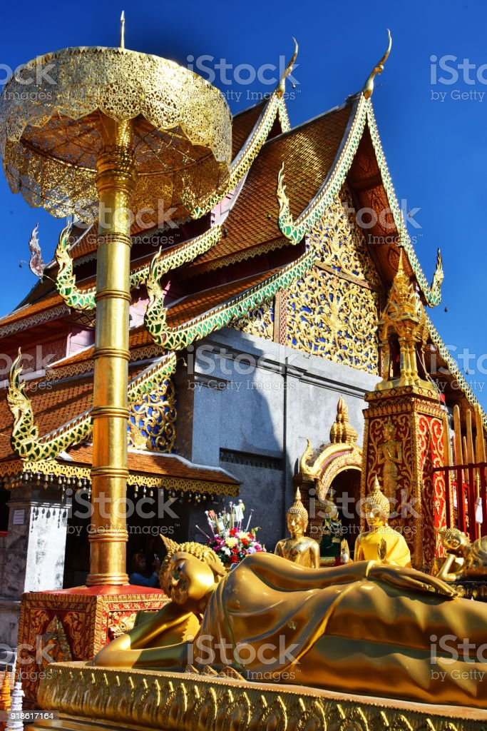 Wat Phra That Doi Suthep temple in Chiang Mai Province, Thailand stock photo