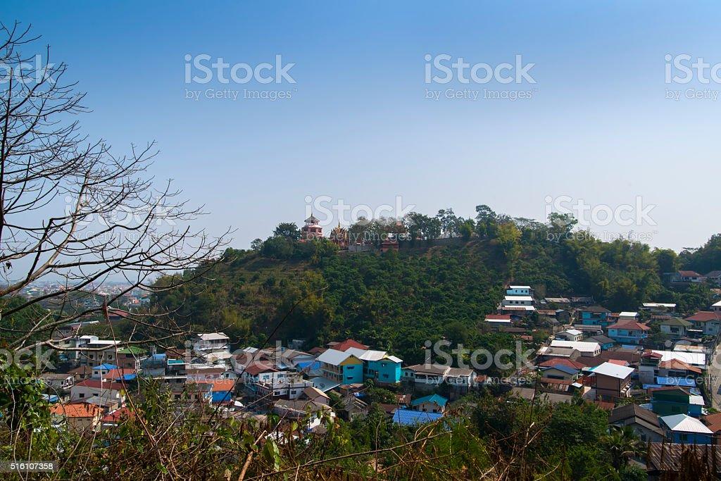 Wat Phra That Doi Wao stock photo