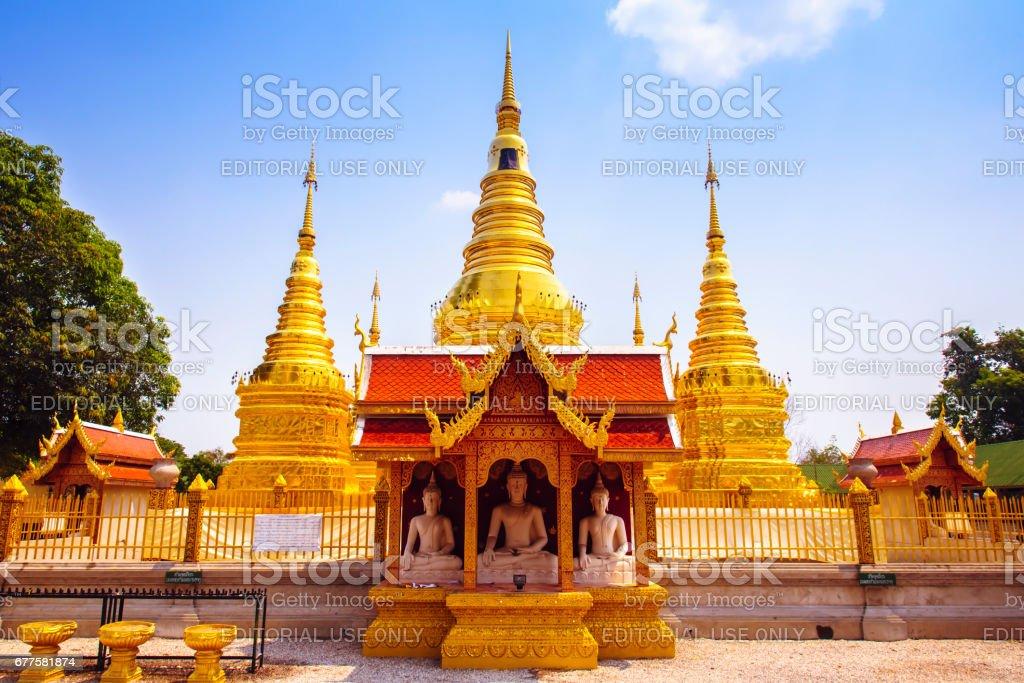 Wat Phra That Ha Duang, Lamphun Thailand royalty-free stock photo