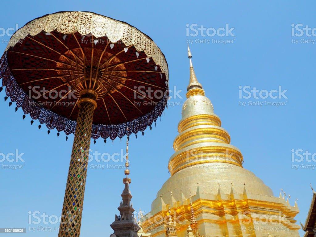 Wat Phra That Hariphunchai , Lamphun, Thailand stock photo