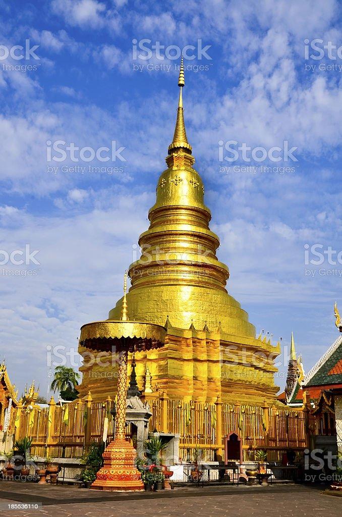 Wat Phra That Mon Haripunchai stock photo