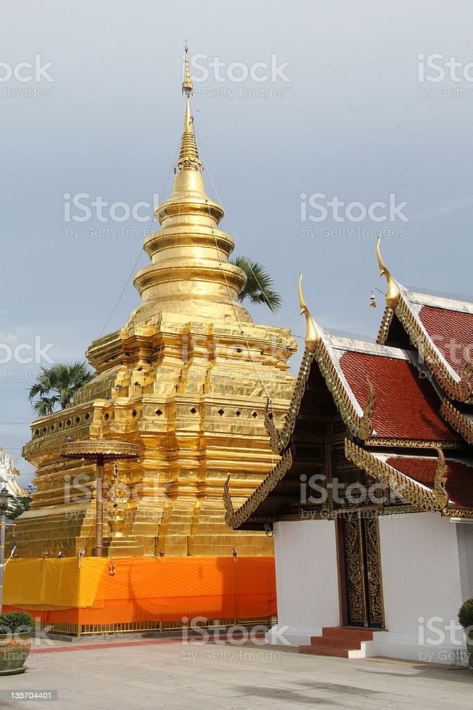 Wat Phra That Si Chom Thong Wora Wiharn royalty-free stock photo