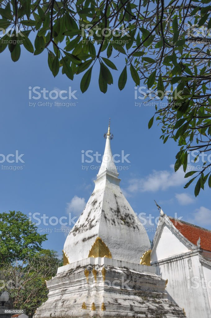 Wat Phra That Si Song Rak temple, Loei, Thailand stock photo