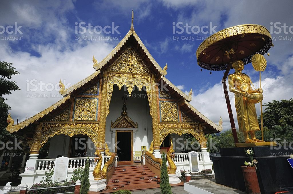 Wat Phrasing Chiangmai Thailand royalty-free stock photo