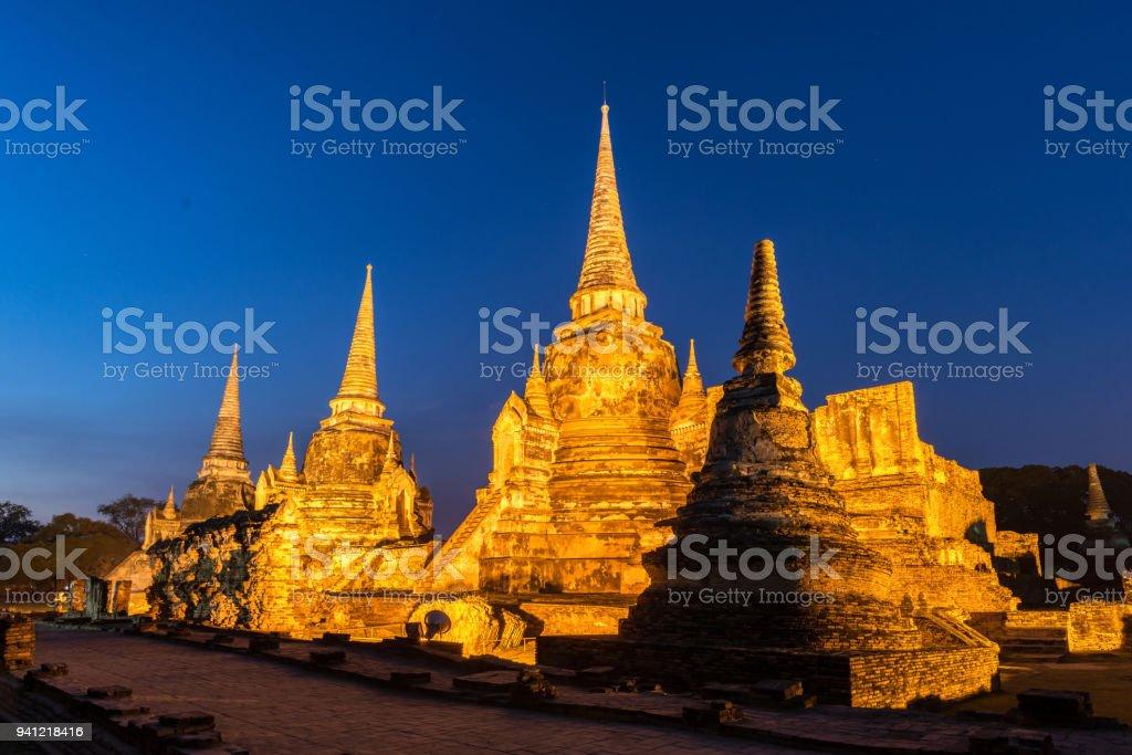 Wat Phrasisanpetch In The Ayutthaya Historical Park