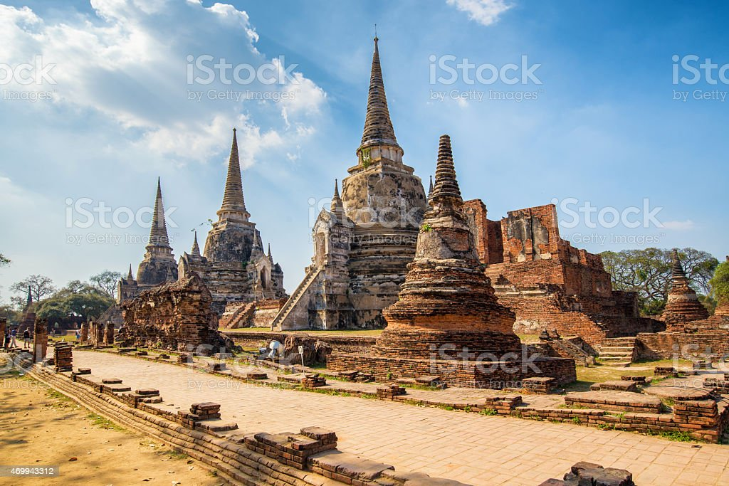 Wat Phrasisanpetch in the Ayutthaya stock photo