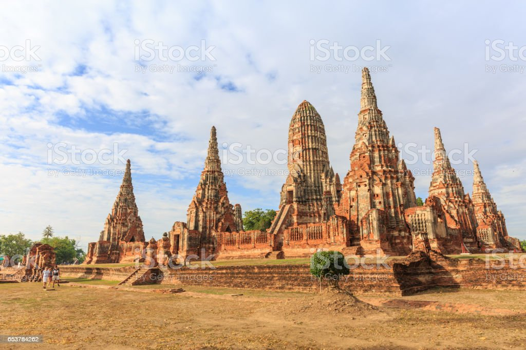Wat Phrasrisanpetch temple in the city of Ayutthaya Historical Park at Ayutthaya in Thailand, stock photo