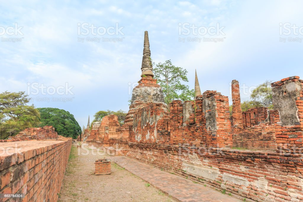 Wat Phrasrisanpetch temple in the city of Ayutthaya Historical Park at Ayutthaya in Thailand stock photo