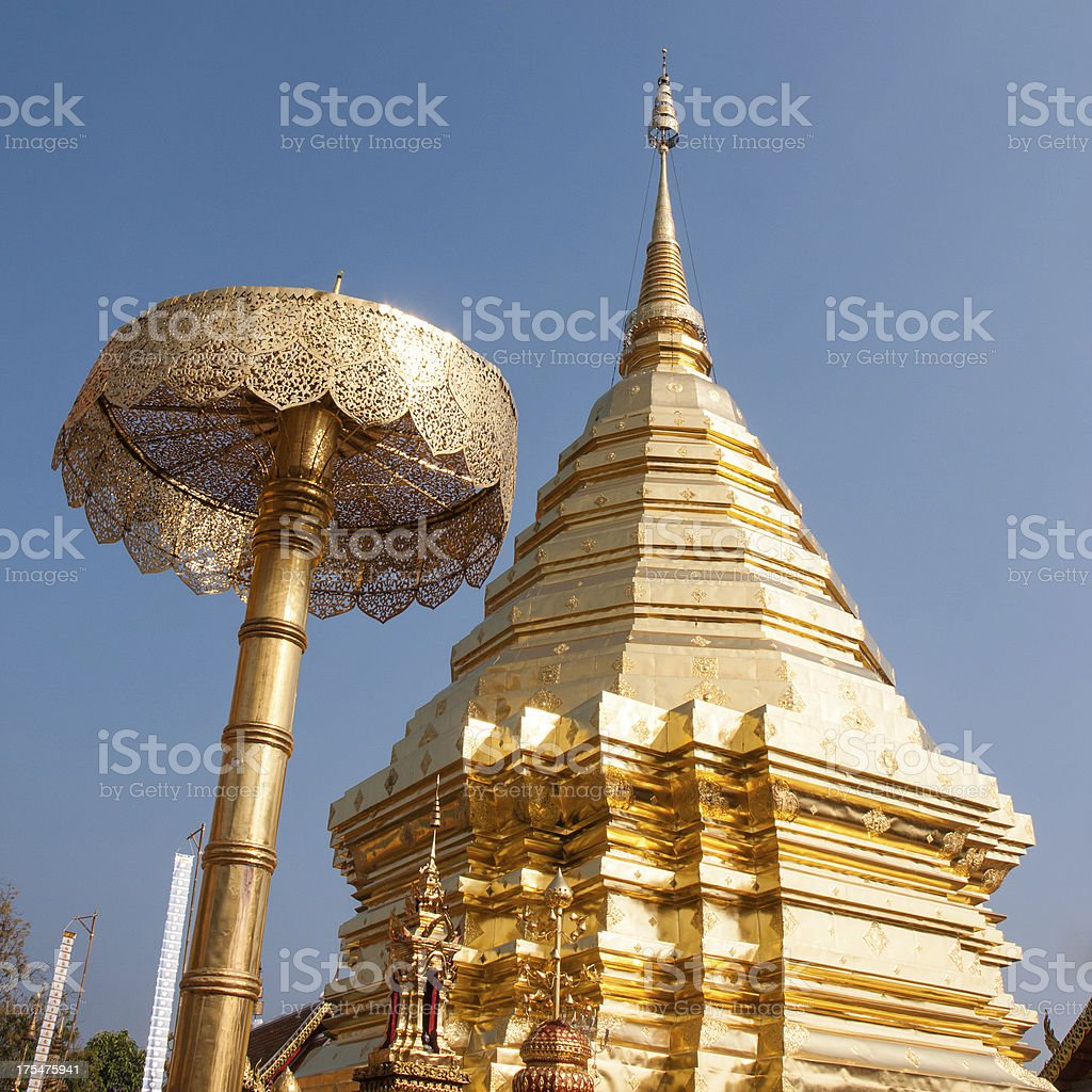 Wat Phrathat Doi Suthep temple in Chiang Mai, Thailand royalty-free stock photo