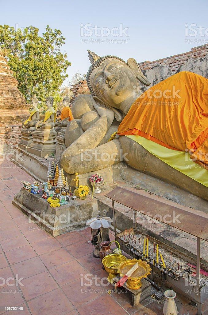 Wat Phutthaisawan, Ayutthaya - reclining Buddha royalty-free stock photo