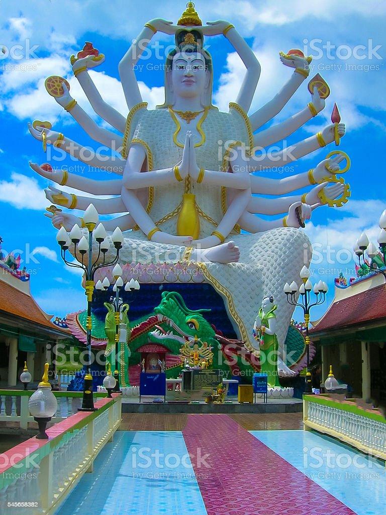 Wat Plai Laem temple with 18 hands God statue Guanyin , Koh Samui,...