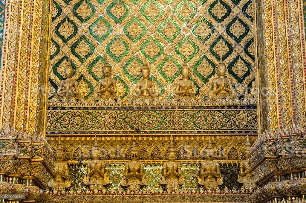 Wat Pra Kaew Grand palace Bangkok royalty-free stock photo
