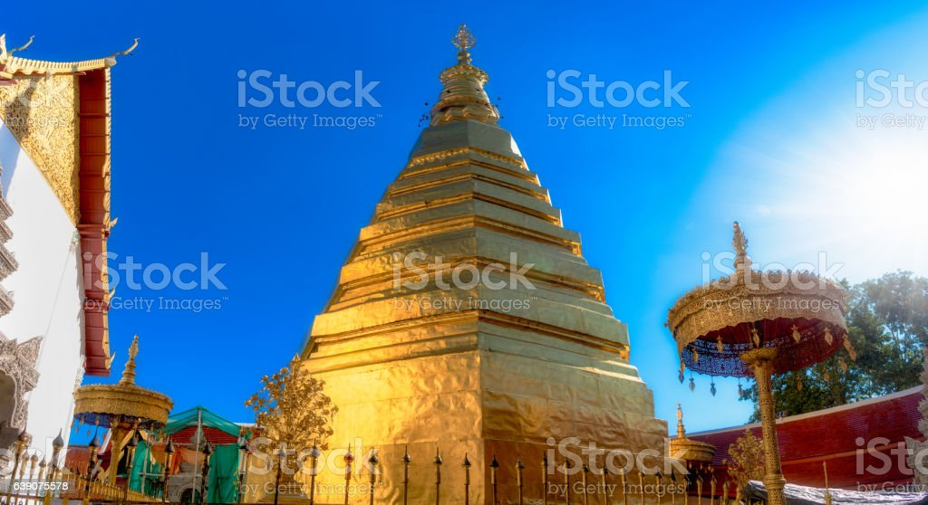 Wat Prathat Cho Hae, Phrae province, Nothern of Thailand. stock photo