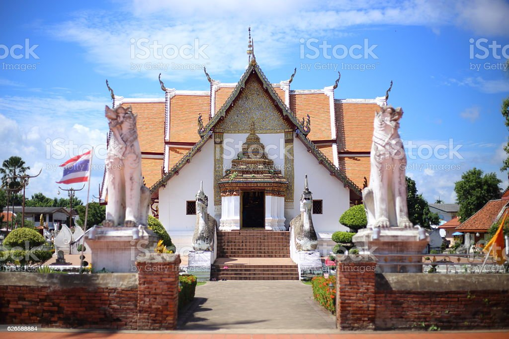 Wat Pu Min temple in Nan, Thailand stock photo