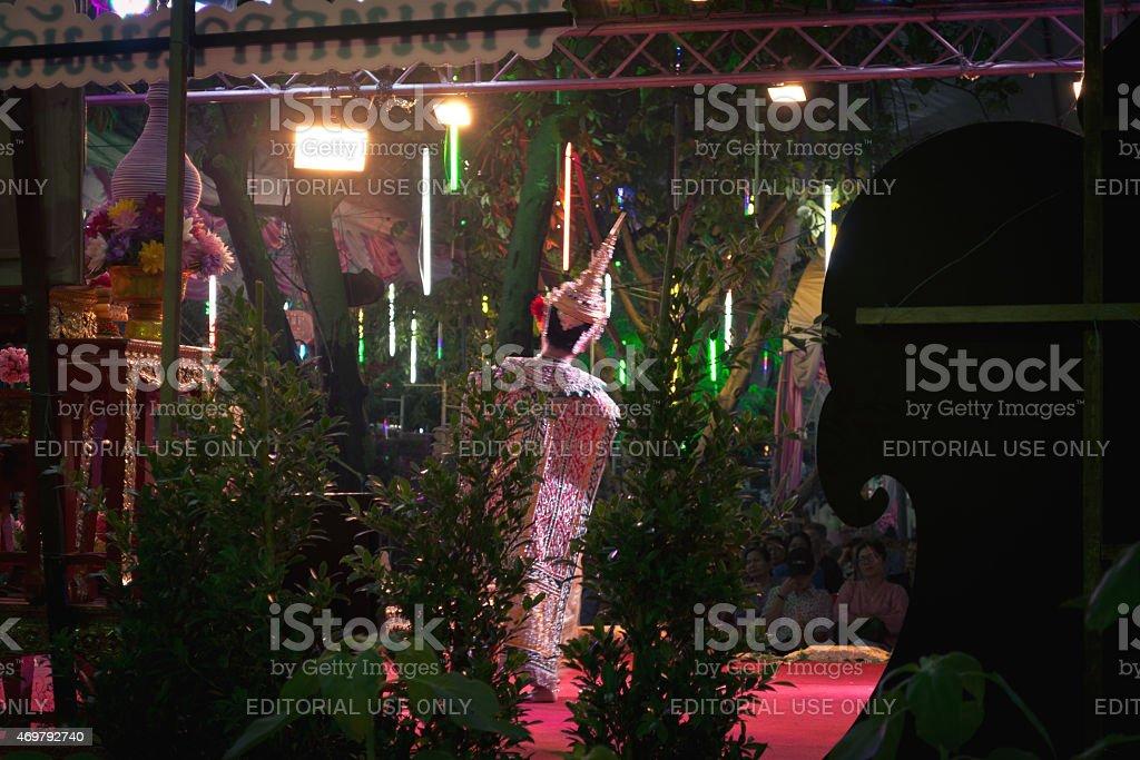 wat rai khing Festival 30-03-2015 to 07-04-2015 pantomime performances stock photo