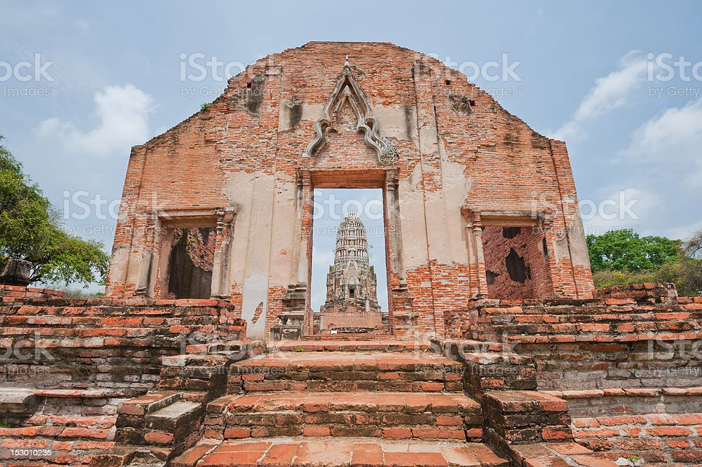 Wat Ratchaburana, Ayuthaya, Thailand. stock photo
