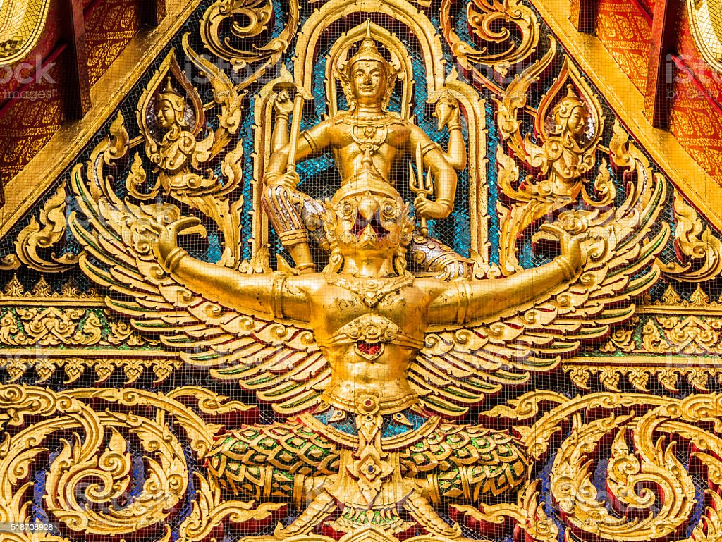 Wat Ratchaburana temple Bangkok Thailand stock photo