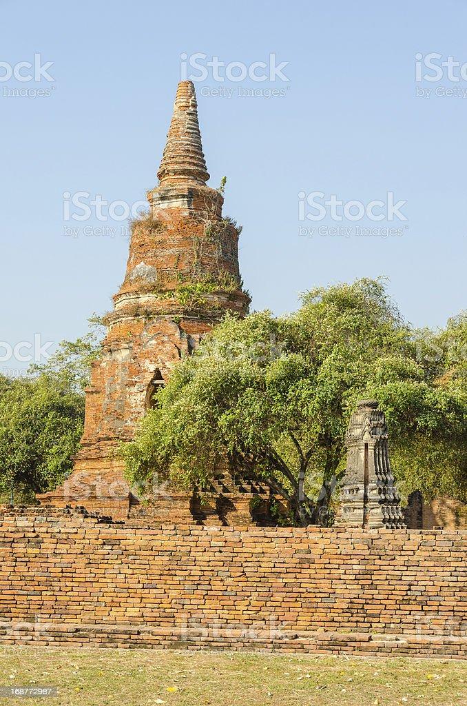 Wat Ratchburana, Ayutthaya royalty-free stock photo