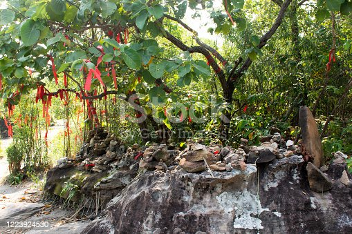 istock Wat Roi Phra Phutthabat Phu Manorom in Mukdahan, Thailand 1223924530