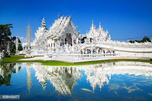istock Wat Rong Khun or White Temple, Landmark, Chiang Rai, Thailand. 526443477