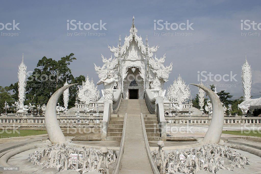 Wat Rong Khun stock photo