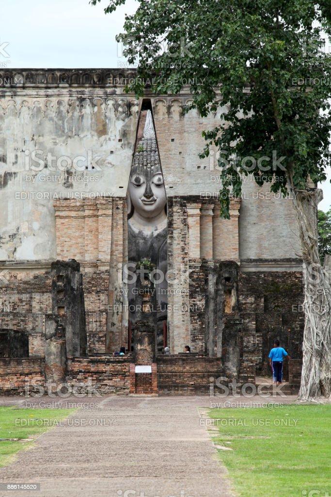 Wat Si Chum in Sukhothai stock photo